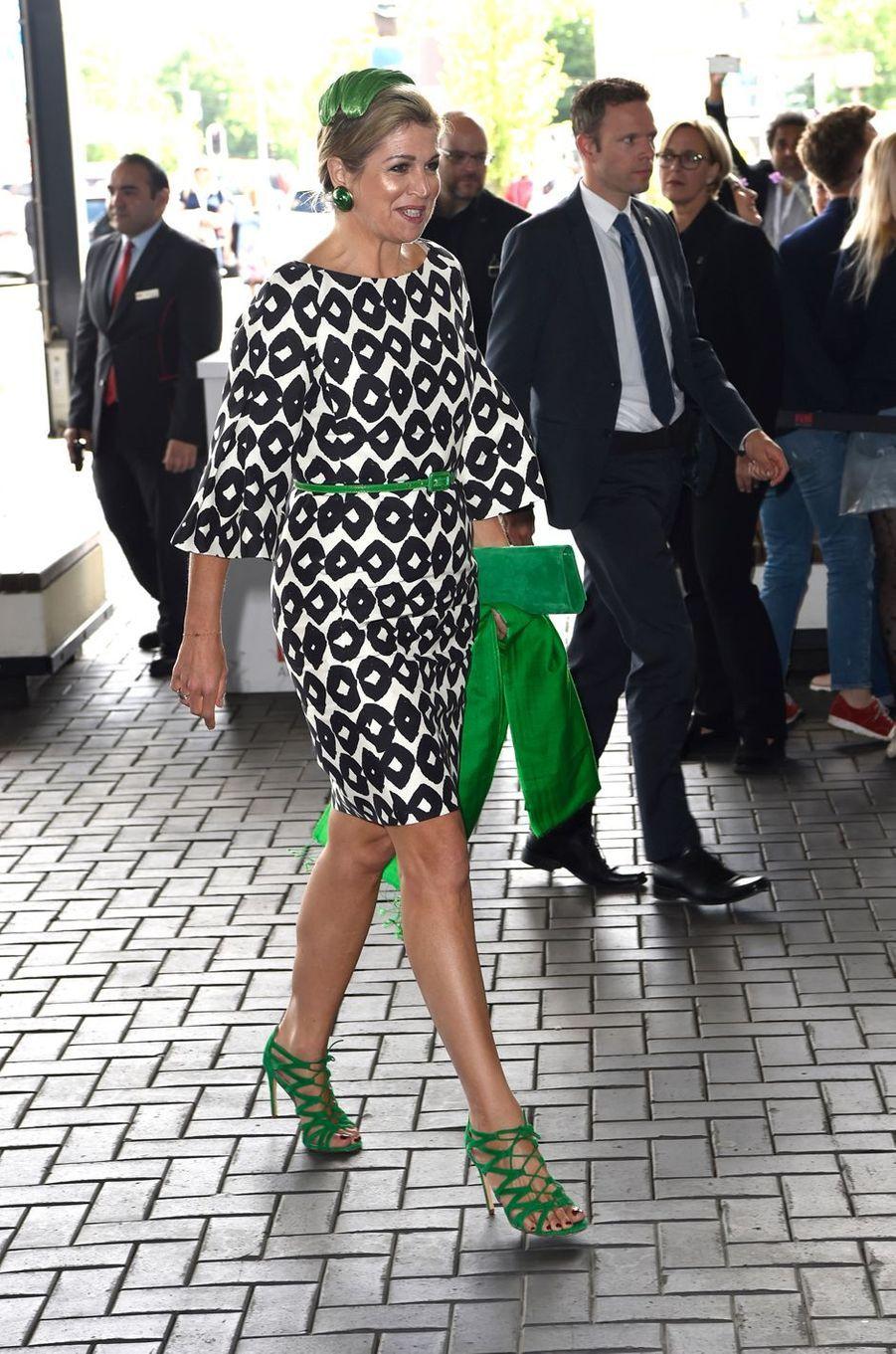 La reine Maxima des Pays-Bas au congrès de l'Académie européenne de neurologie à Amsterdam, le 26 juin 2017