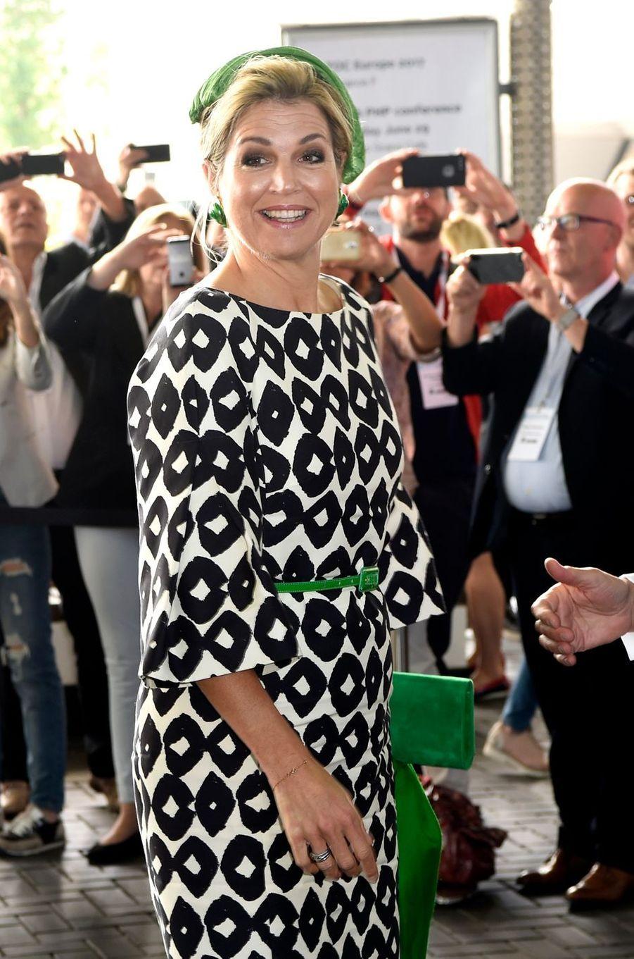 La reine Maxima des Pays-Bas à Amsterdam, le 26 juin 2017