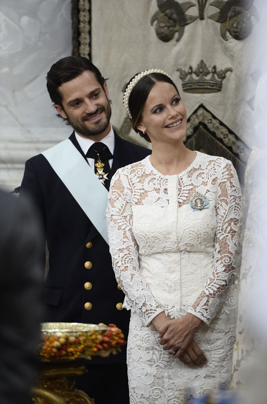 La princesse Sofia et le prince Carl Philip de Suède à Stockholm, le 9 septembre 2016