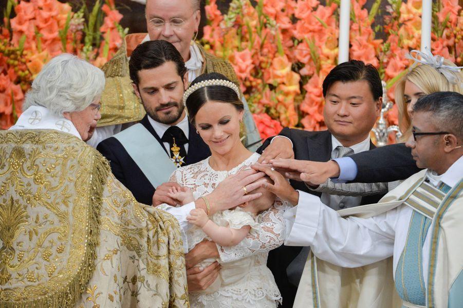 Le baptême du prince Alexander de Suède à Stockholm, le 9 septembre 2016