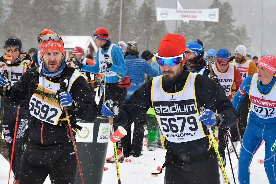 Le prince Carl Philip de Suède engagé sur la 95e Vasaloppet, le 3 mars 2019