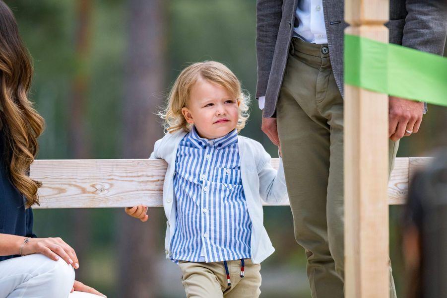 Le prince Alexander de Suède dans le Södermanland, le 23 août 2018