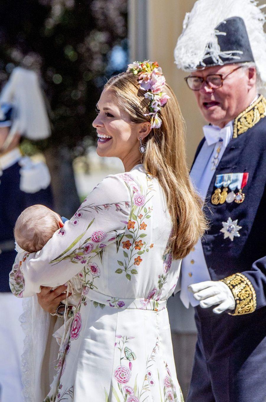 Les princesses Madeleine et Adrienne de Suède à Stockholm, le 8 juin 2018