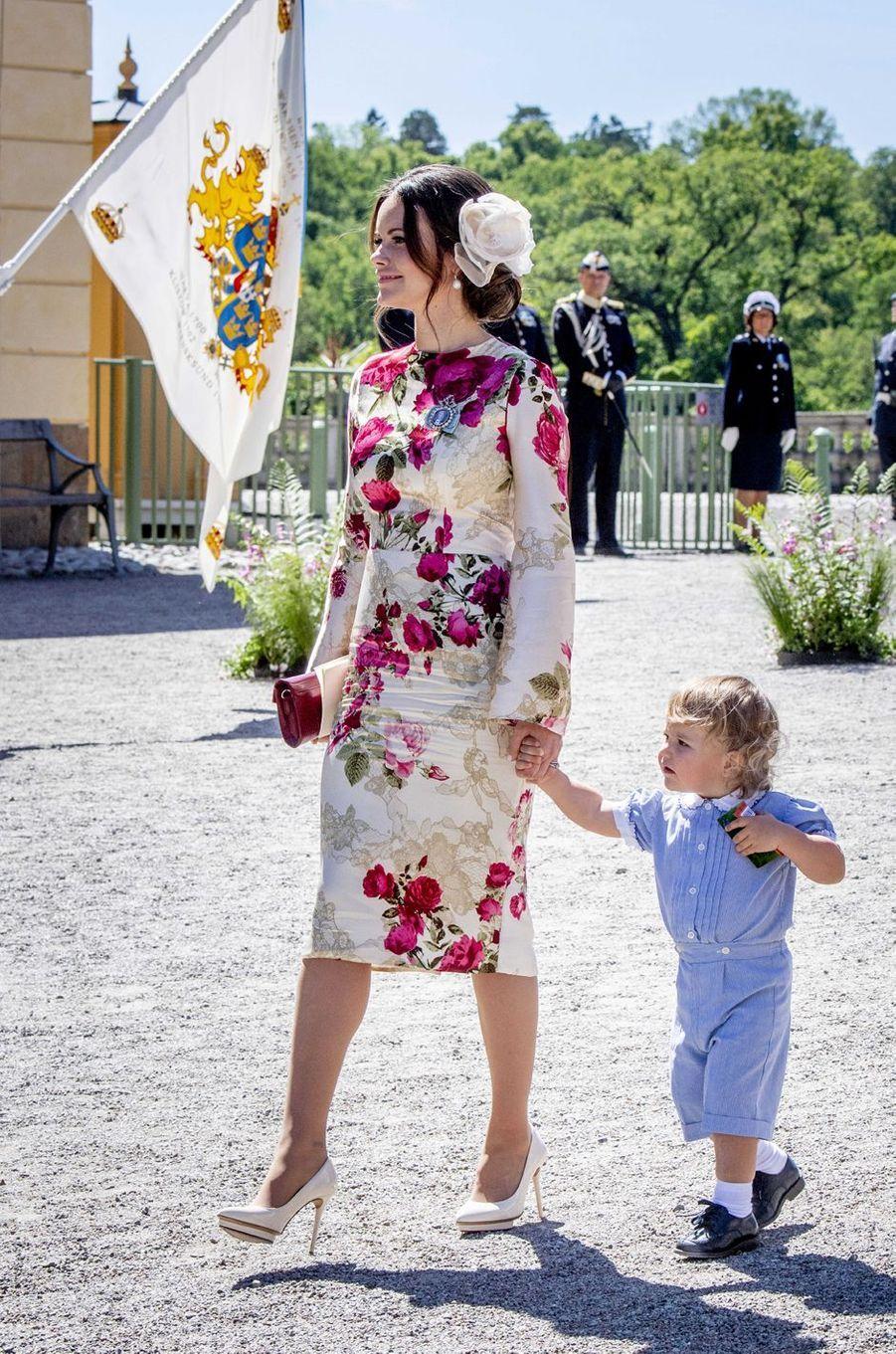 La princesses Sofia de Suède et le prince Alexander à Stockholm, le 8 juin 2018