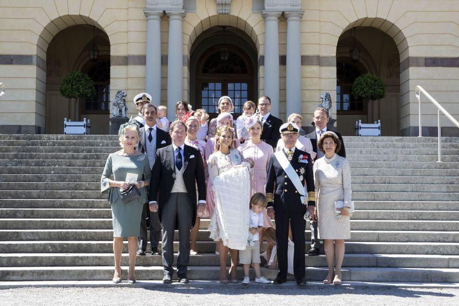 La famille royale de Suède à Stockholm, le 8 juin 2018