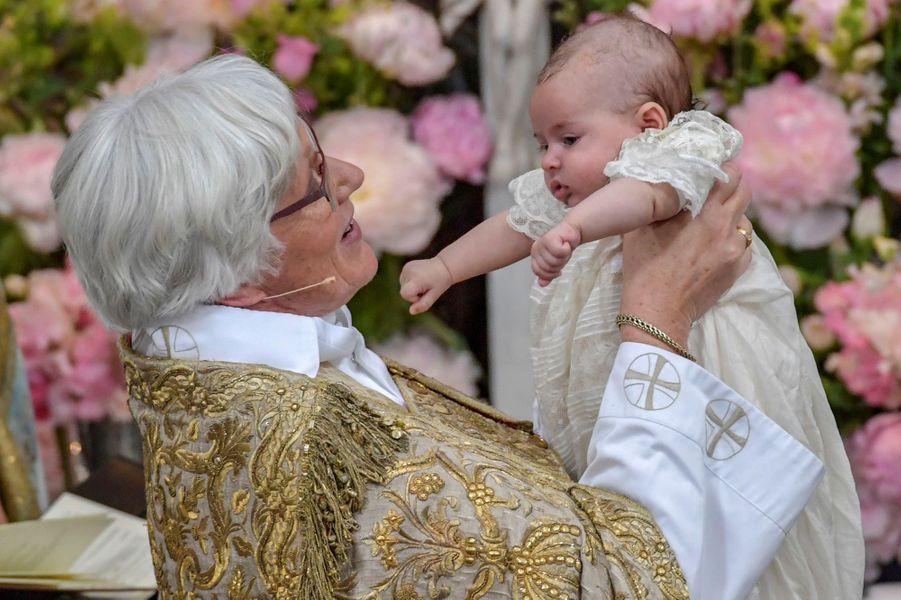 Baptême de la princesse Adrienne de Suède à Stockholm, le 8 juin 2018