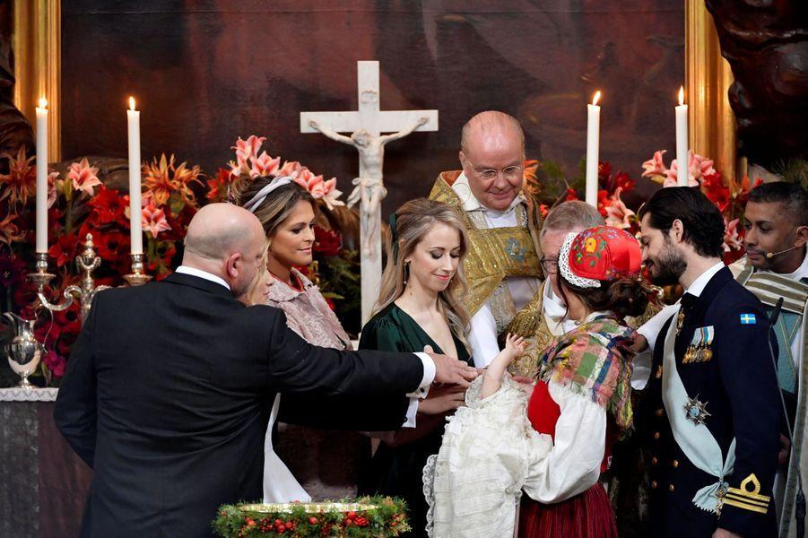 Le baptême du prince Gabriel de Suède à Stockholm, le 1er décembre 2017