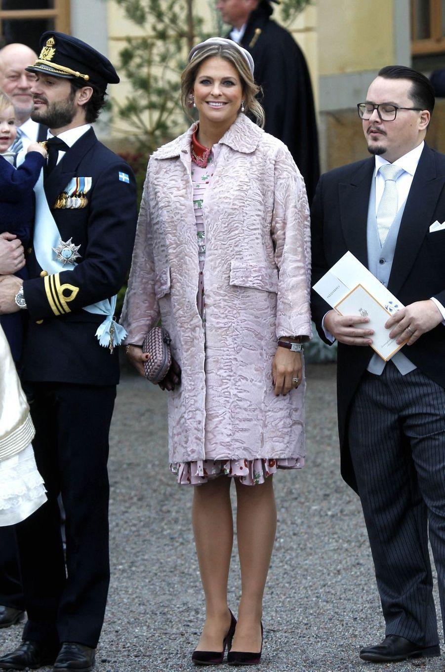 La princesse Madeleine et le prince Carl Philip de Suède à Stockholm, le 1er décembre 2017