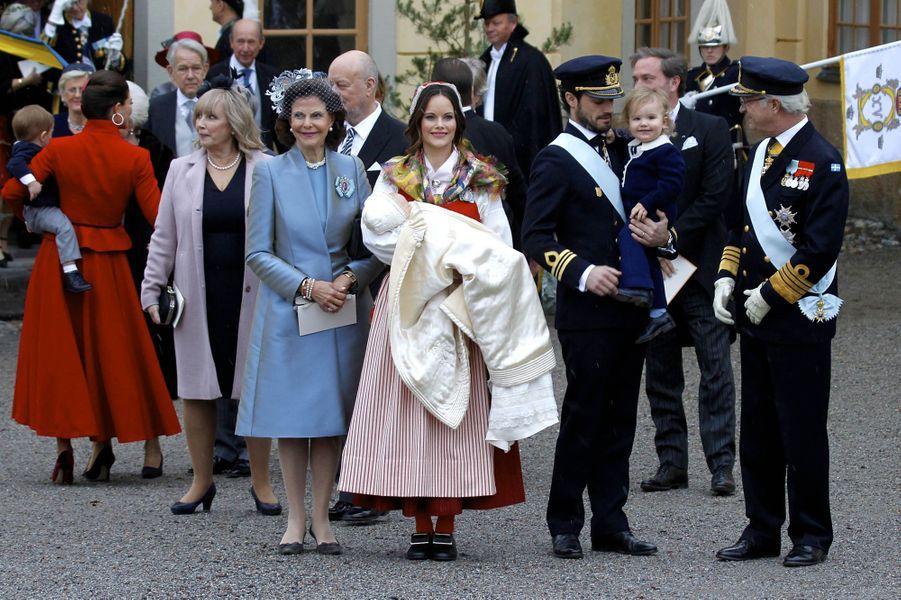 La famille royale de Suède à Stockholm, le 1er décembre 2017