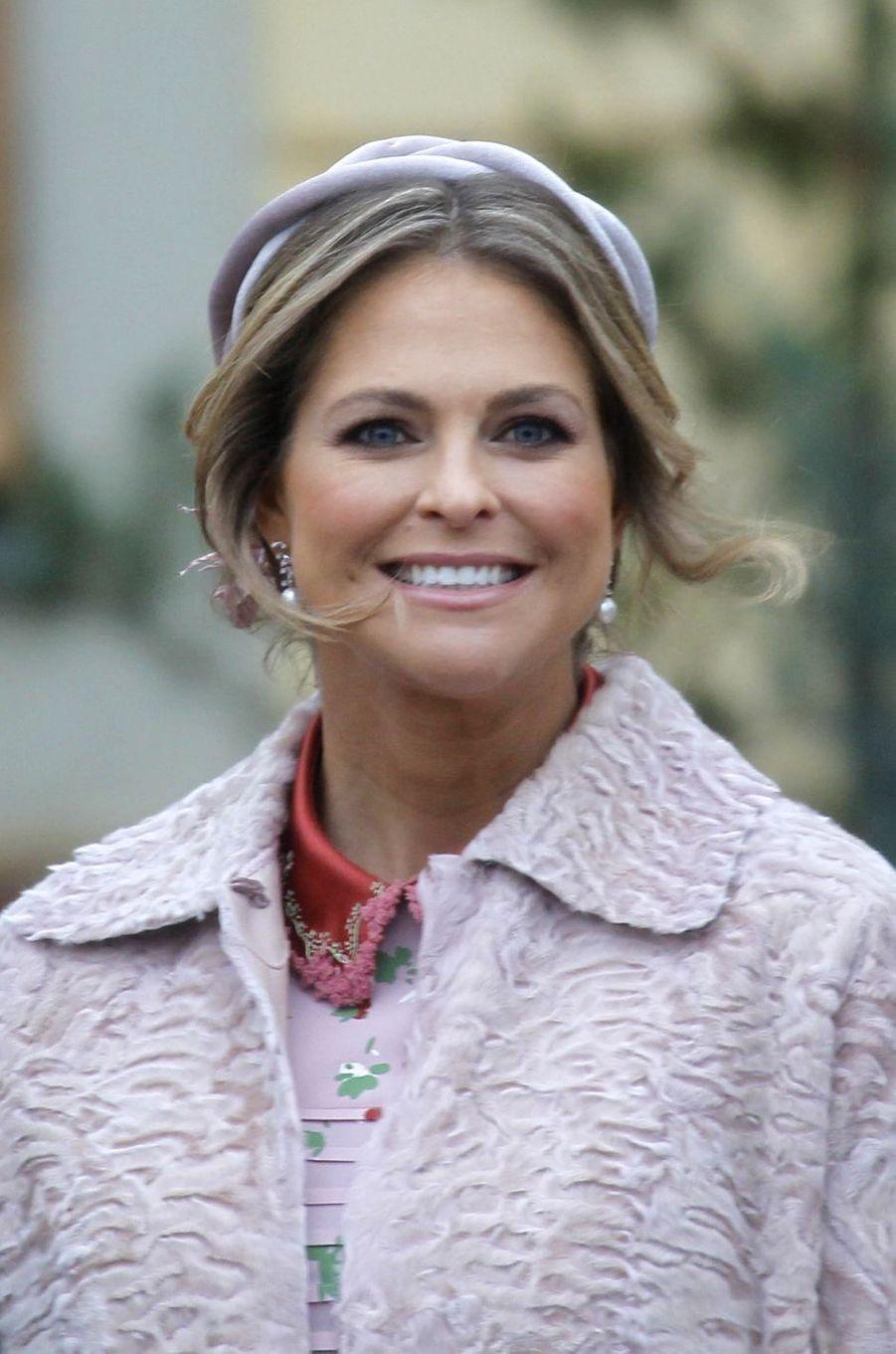 La princesse Madeleine de Suède à Stockholm, le 1er décembre 2017