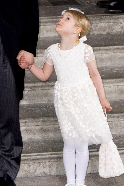 Au baptême du prince Oscar de Suède