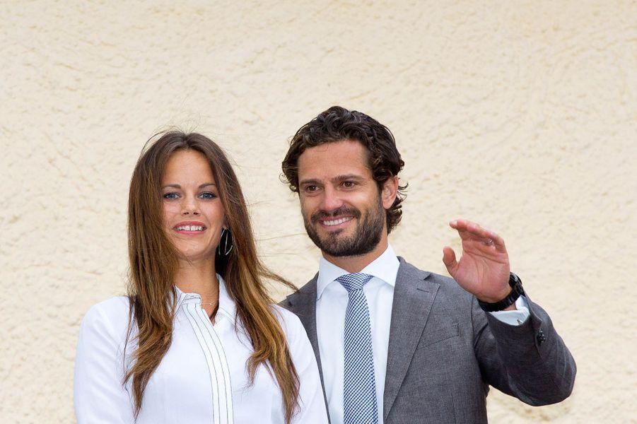 La princesse Sofia et le prince Carl Philip de Suède à Avrika, le 26 août 2015