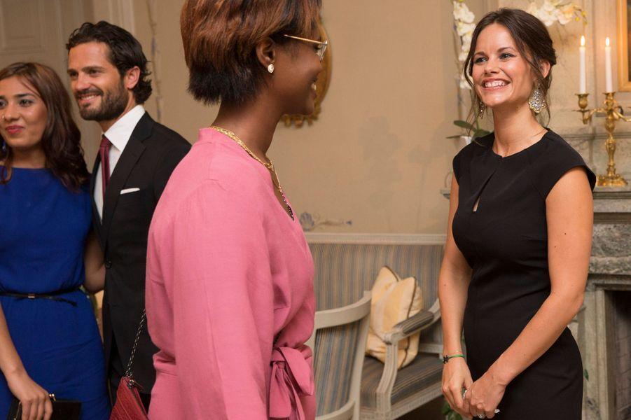 La princesse Sofia et le prince Carl Philip de Suède à Karlstad, le 26 août 2015