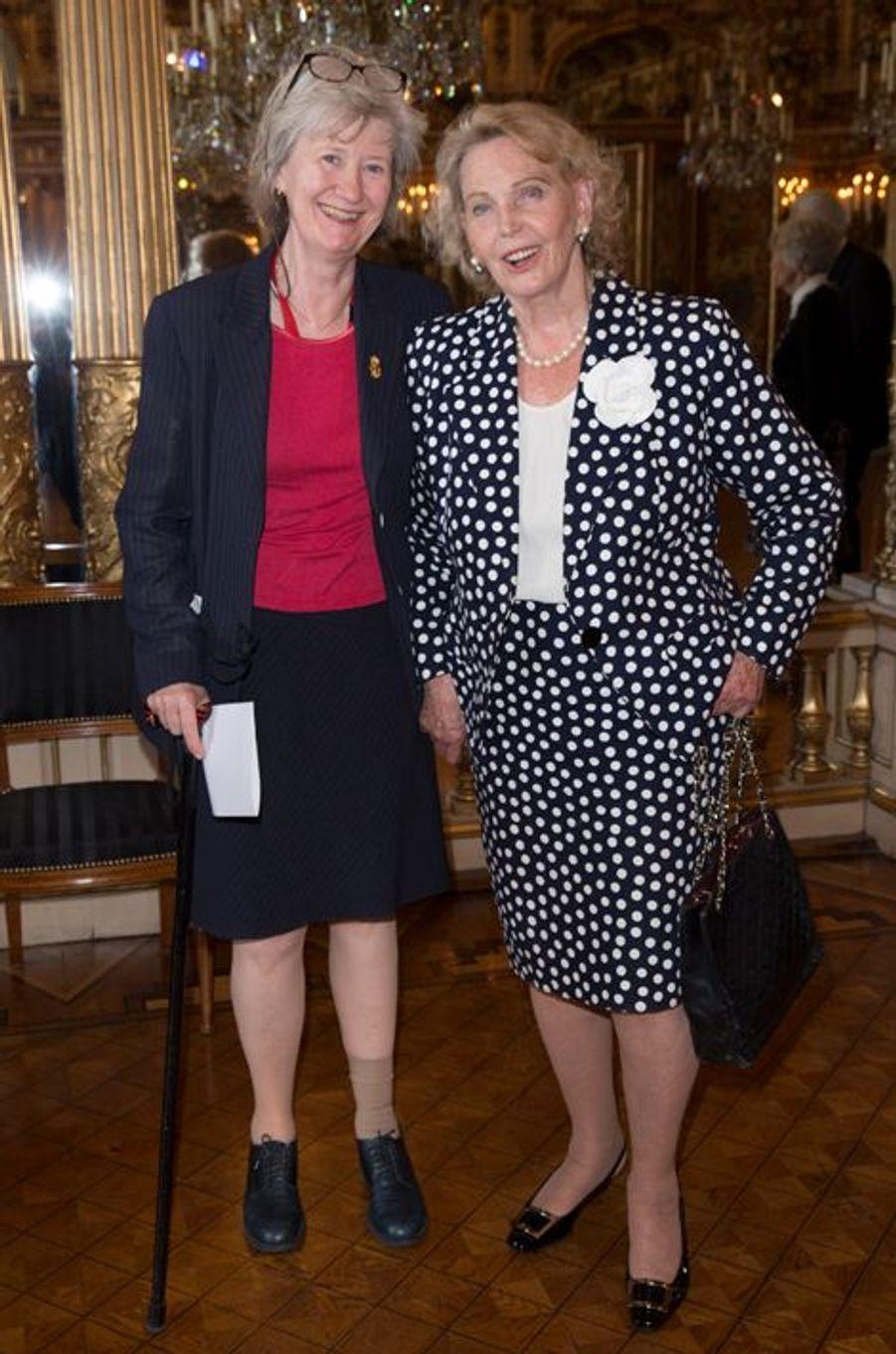 La comtesse Marianne Bernadotte (à droite), veuve de l'un des oncles du roi de Suède, à Stockholm le 29 août 2015