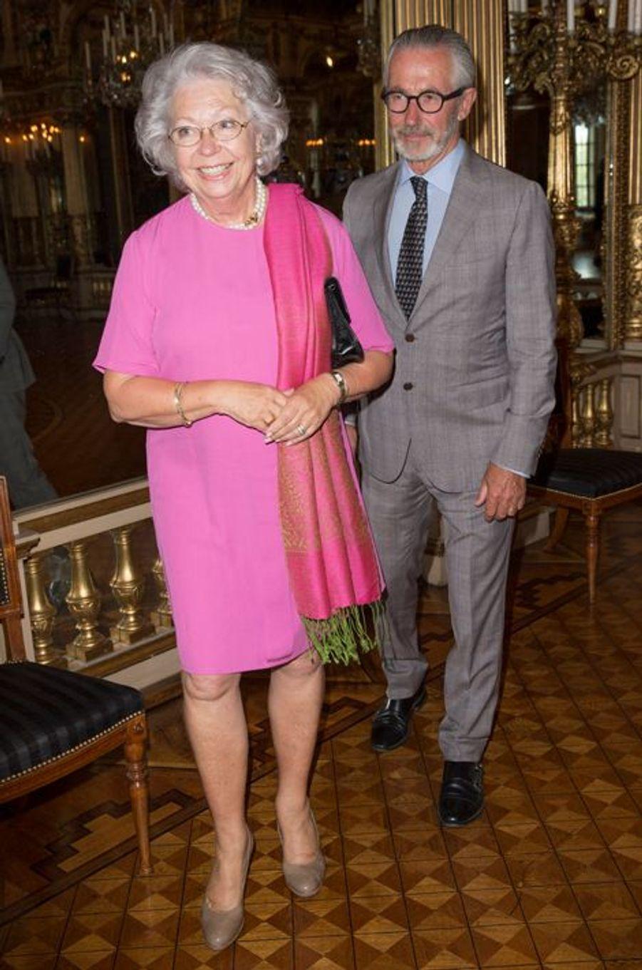 La princesse Christina de Suède et son mari Tord Magnuson à Stockholm, le 29 août 2015