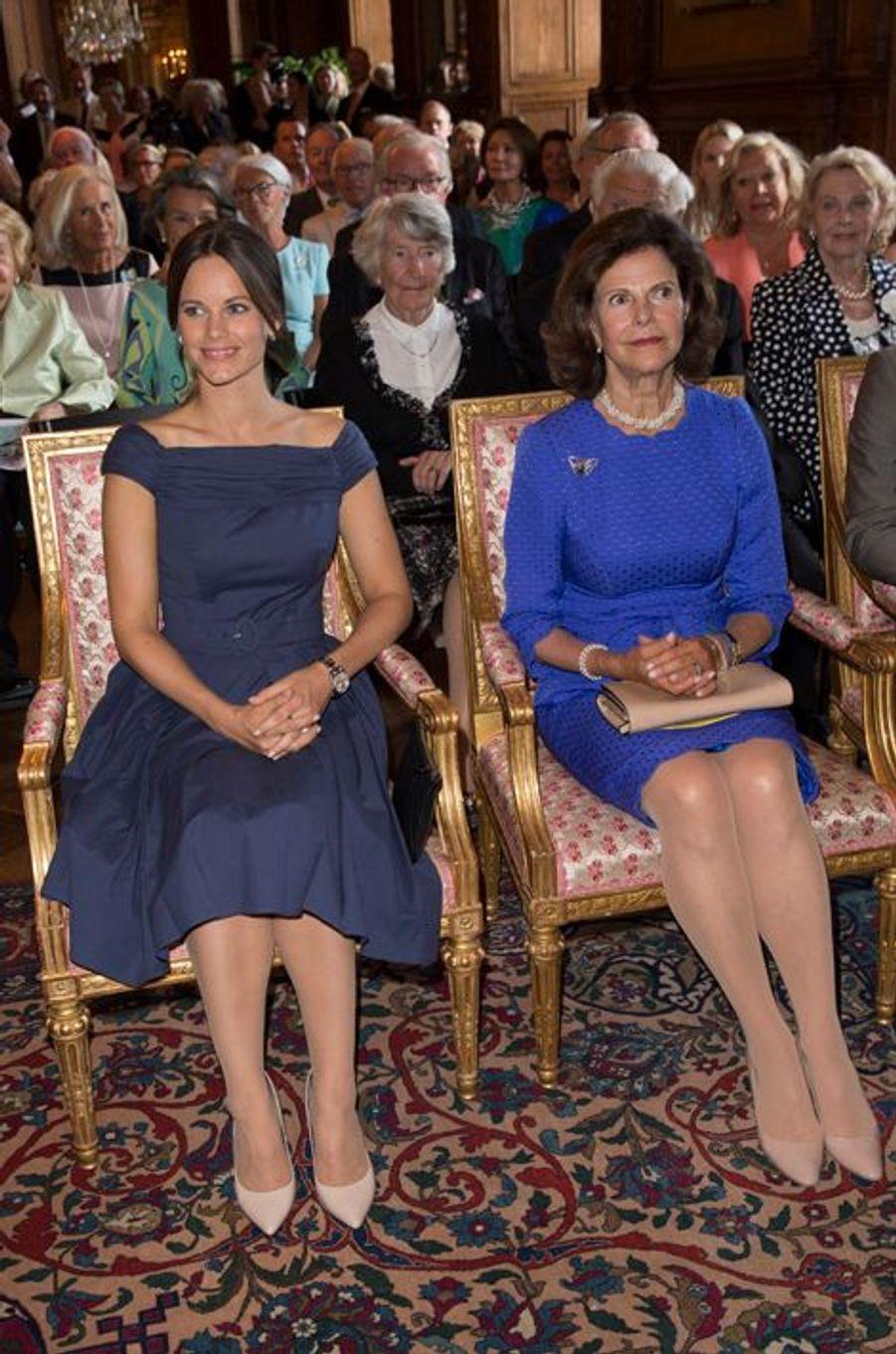 La princesse Sofia et la reine Silvia de Suède à Stockholm, le 29 août 2015