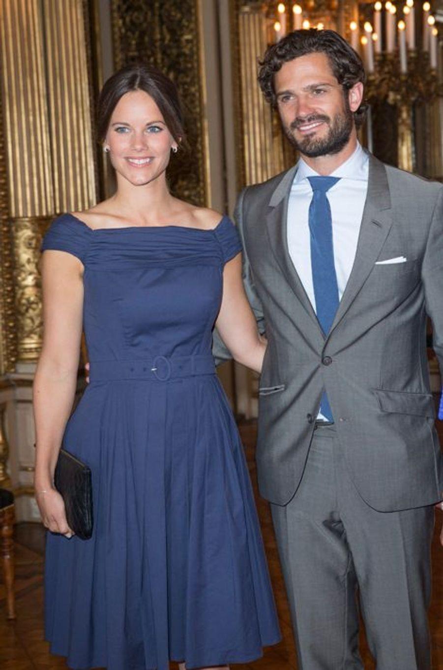 La princesse Sofia et le prince Carl Philip de Suède à Stockholm, le 29 août 2015