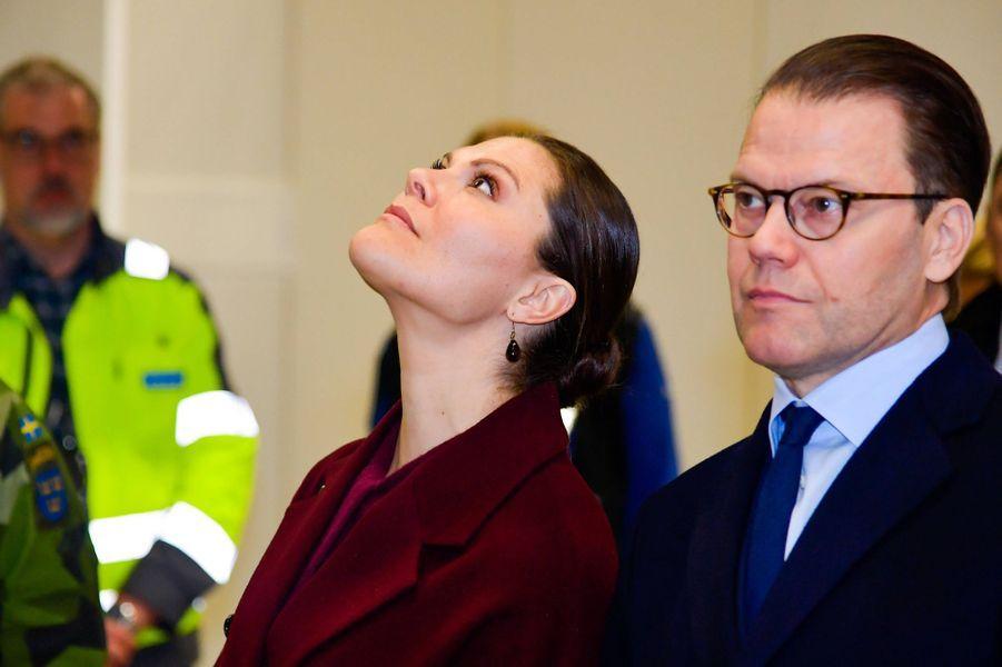 La princesse Victoria de Suède et le prince Daniel à Stockholm, le 26 mars 2020