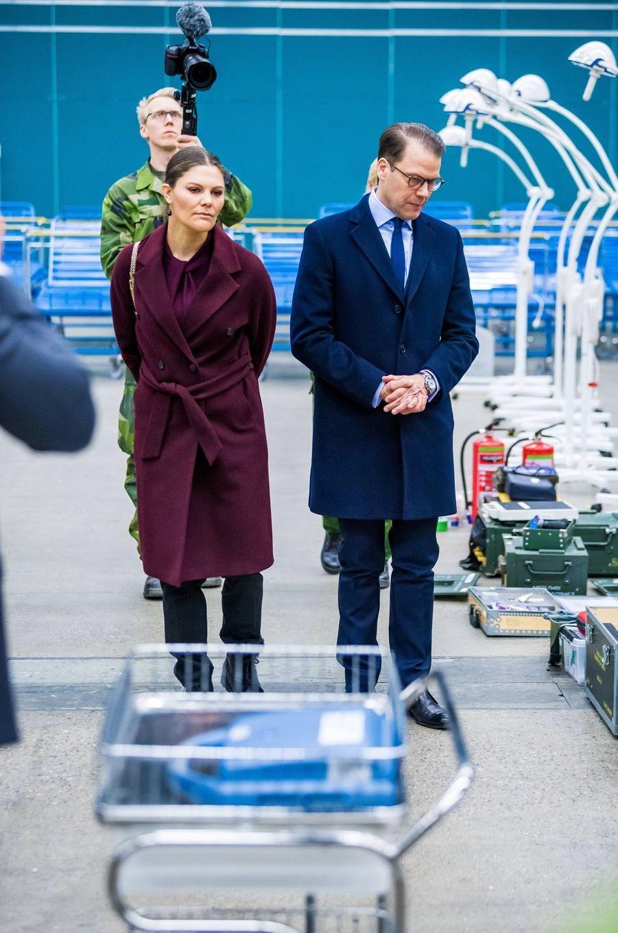 La princesse héritière Victoria de Suède et le prince Daniel à Stockholm, le 26 mars 2020