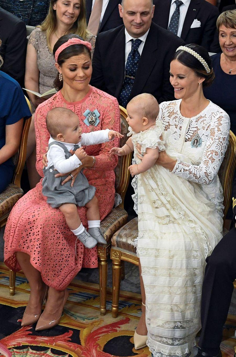 Les princesses Victoria et Sofia de Suède avec les princes Oscar et Alexander, le 9 septembre 2016