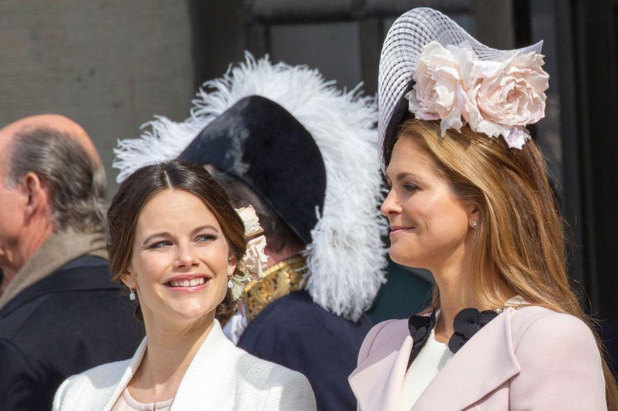 Les princesses Sofia et Madeleine de Suède, le 29 avril 2016