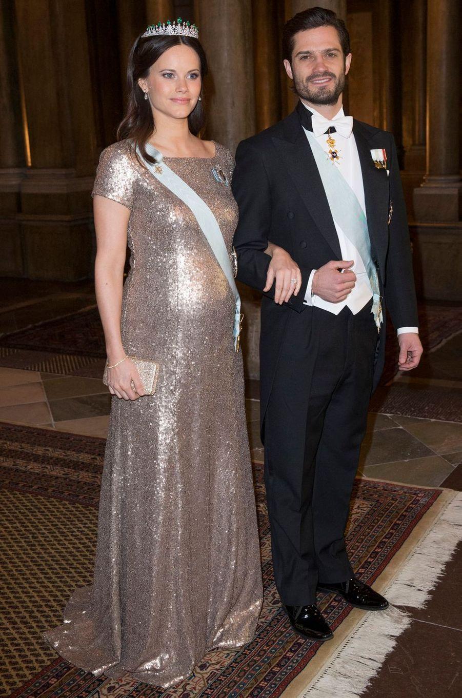 La princesse Sofia et le prince Carl Philip de Suède, le 3 février 2016