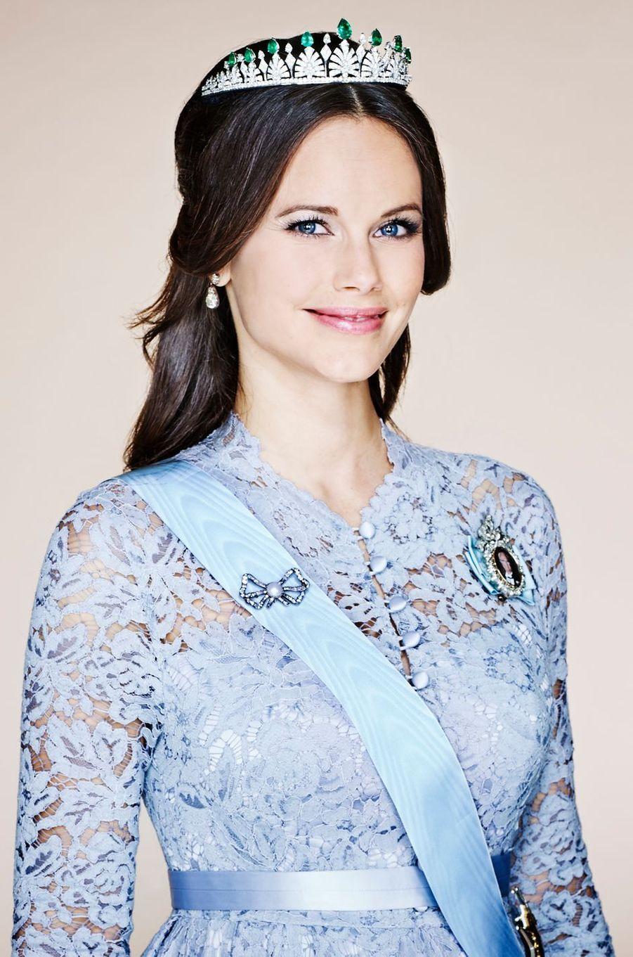 Photo officielle de la princesse Sofia de Suède diffusée par le Palais royal en janvier 2016