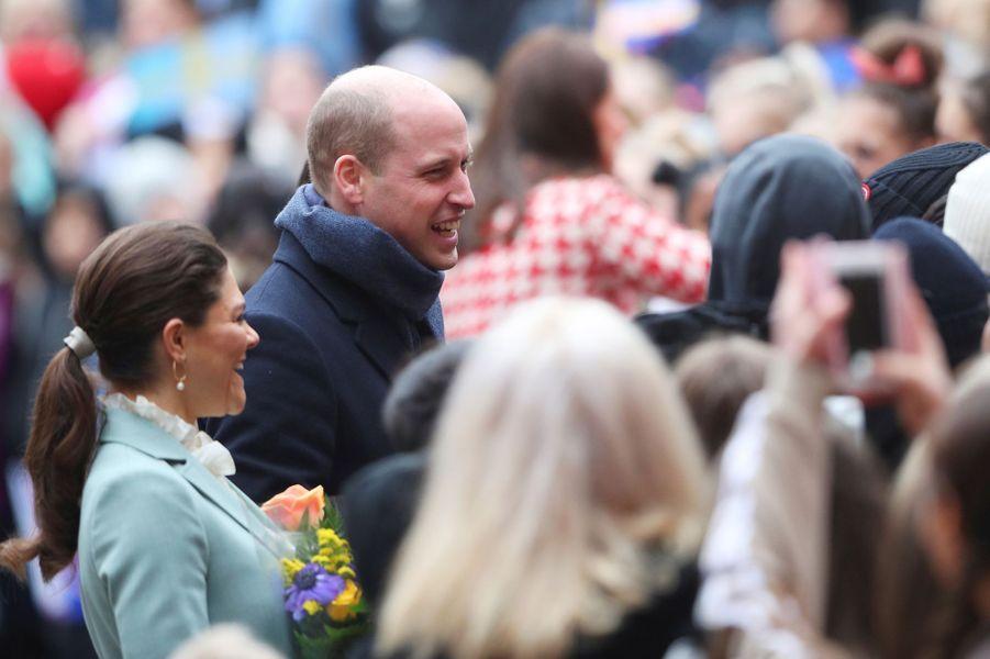 La princesse Victoria de Suède et le prince William à Stockholm, le 31 janvier 2018