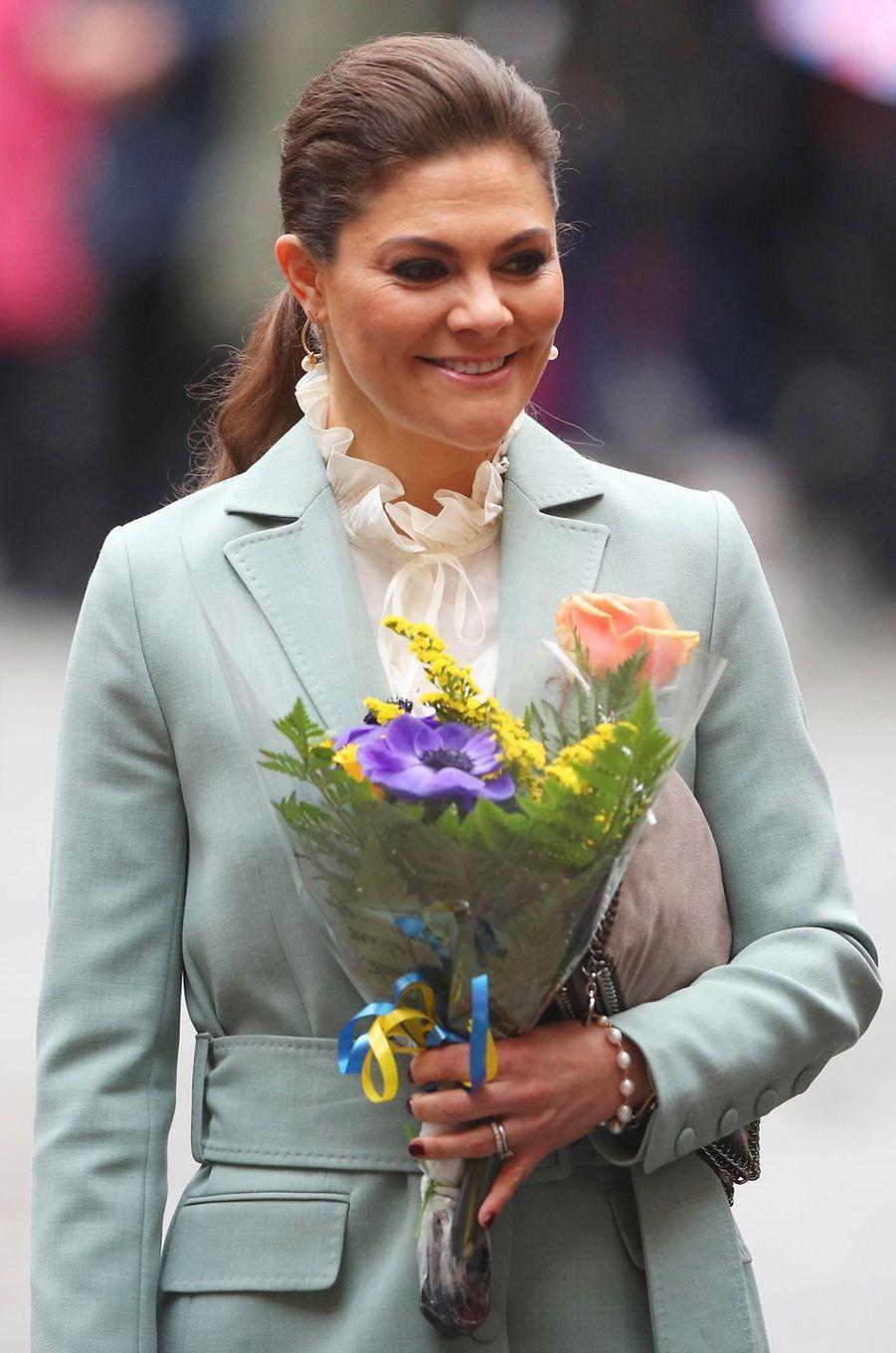 La princesse Victoria de Suède à Stockholm, le 31 janvier 2018