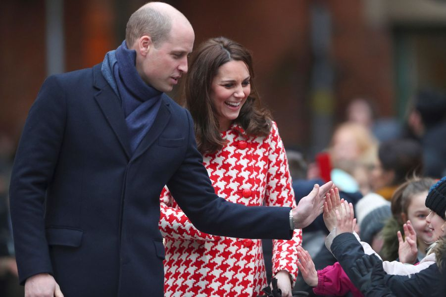 La duchesse Catherine de Cambridge et le prince William à Stockholm, le 31 janvier 2018