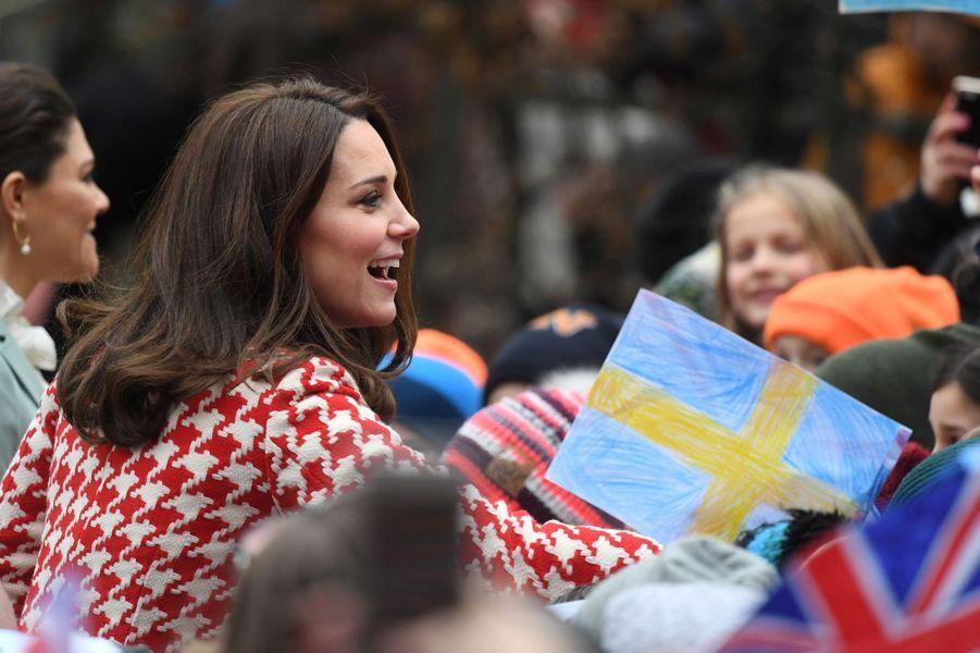 La duchesse Catherine de Cambridge à Stockholm, le 31 janvier 2018