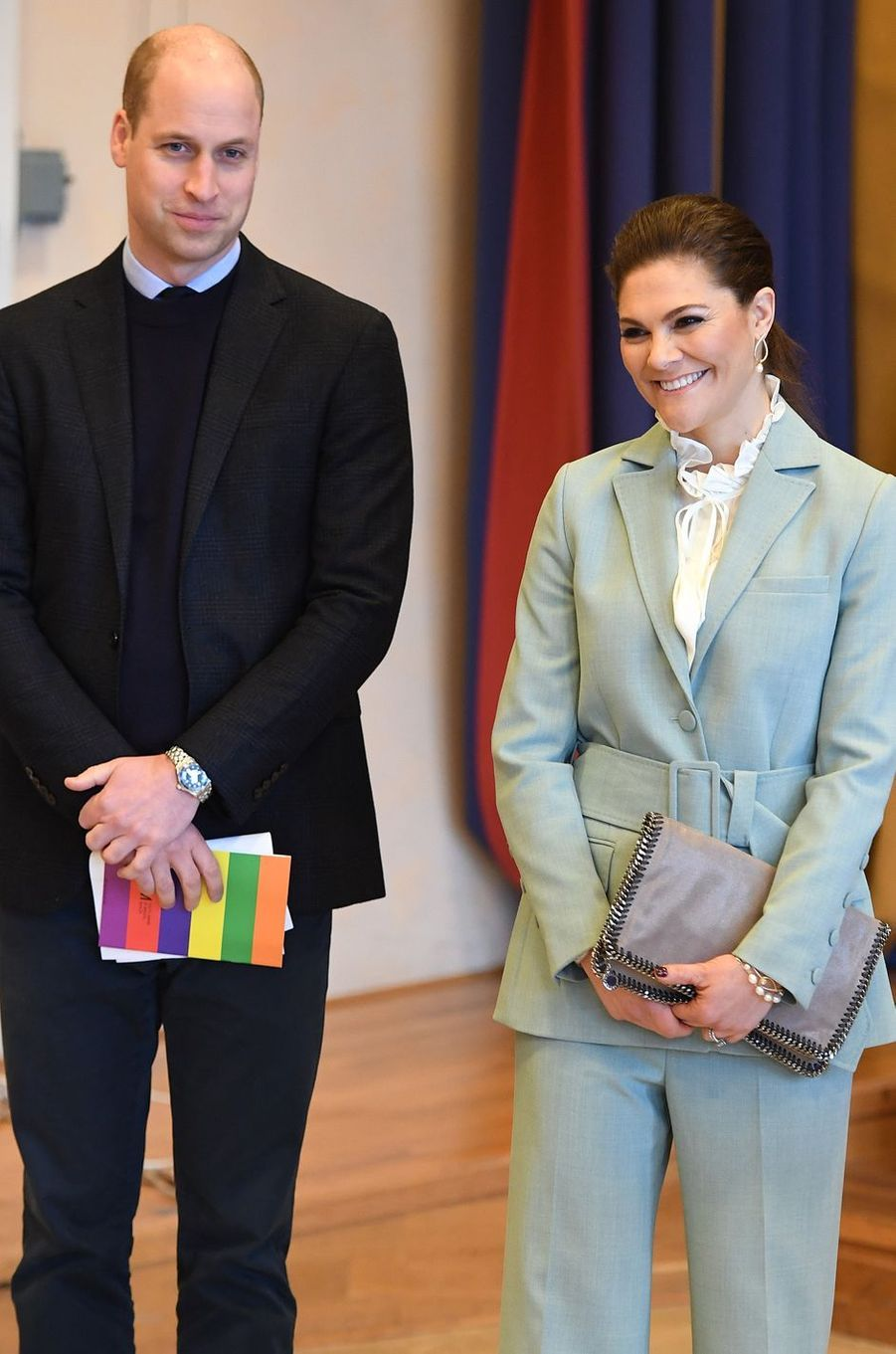 Le prince William et la princesse Victoria de Suède à Stockholm, le 31 janvier 2018