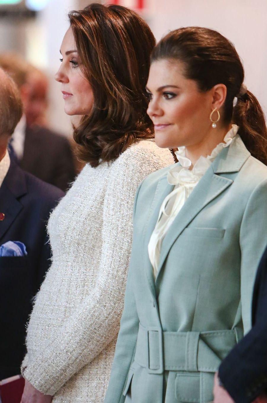 La princesse Victoria de Suède et la duchesse de Cambridge à Stockholm, le 31 janvier 2018