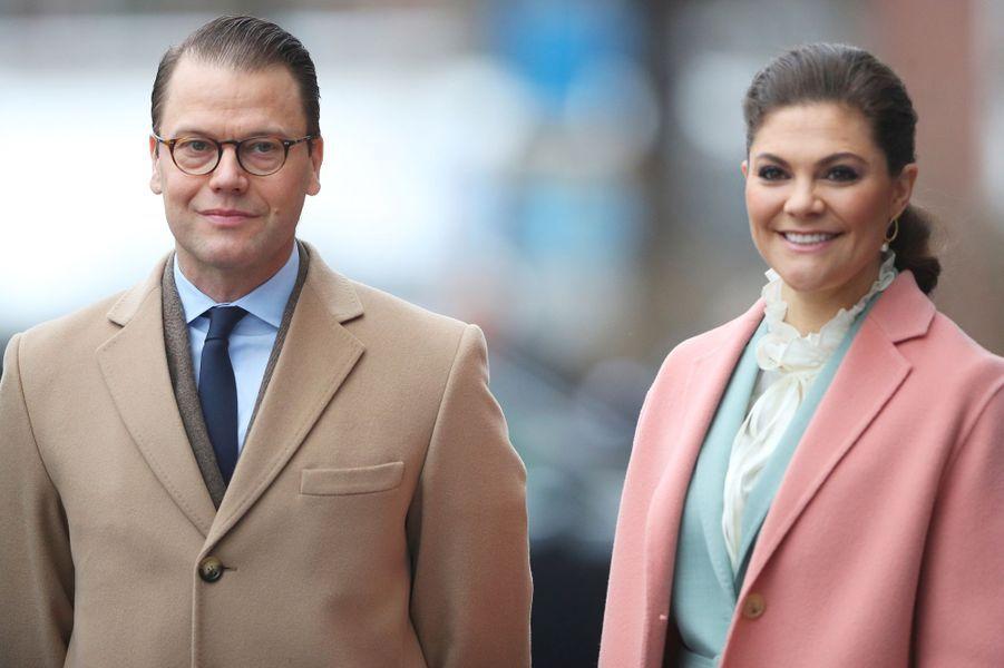La princesse Victoria et le prince Daniel de Suède à Stockholm, le 31 janvier 2018