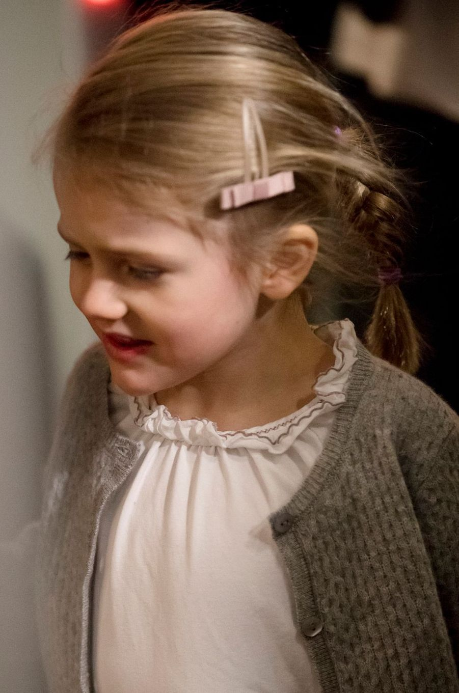La petite princesse Estelle de Suède à Stockholm, le 4 décembre 2016