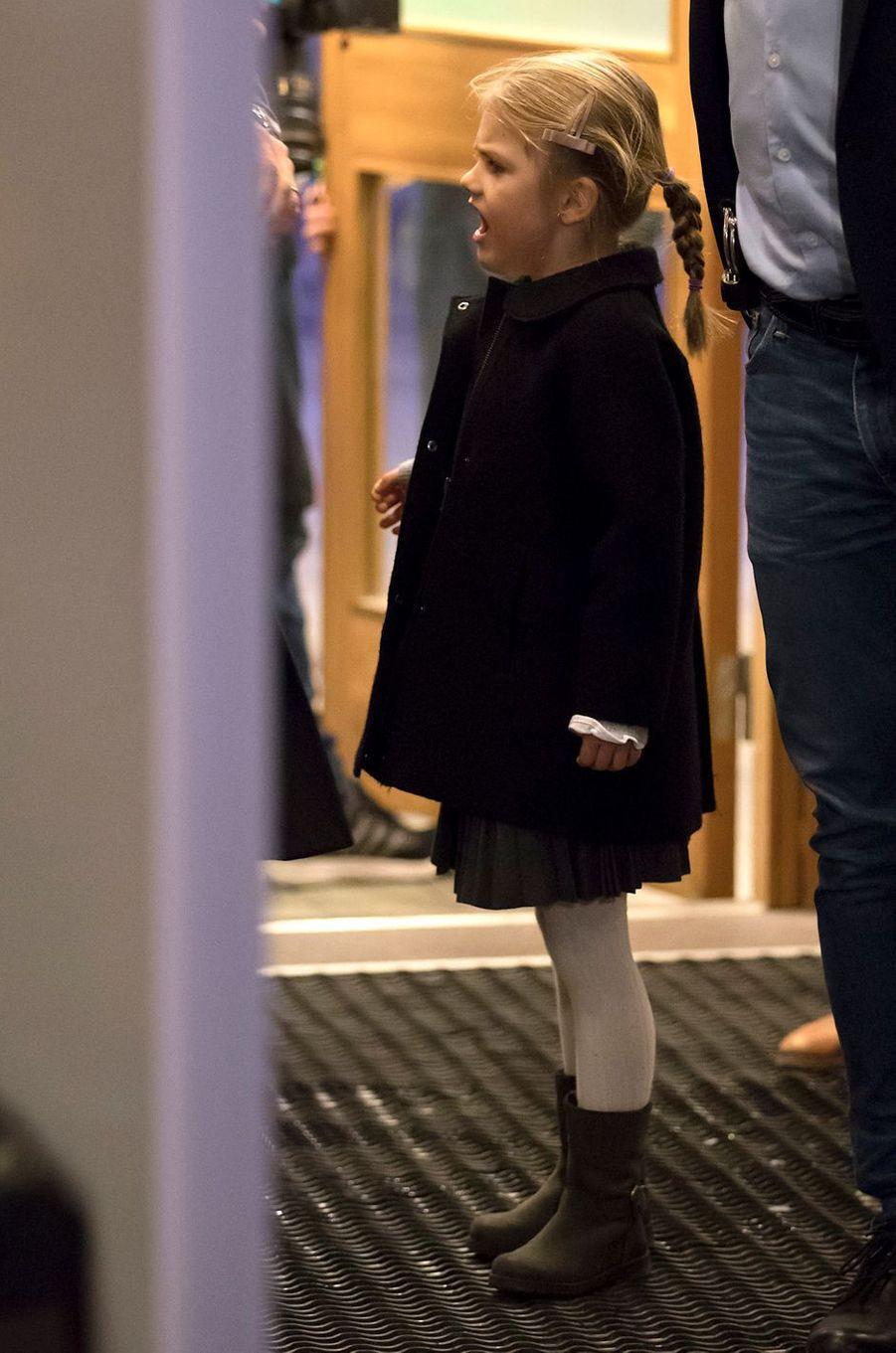 La princesse Estelle de Suède à Stockholm, le 4 décembre 2016