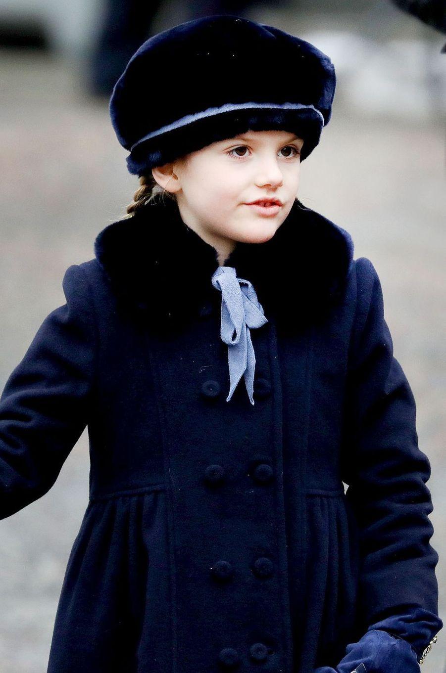 La princesse Estelle de Suède à Stockholm, le 12 mars 2018