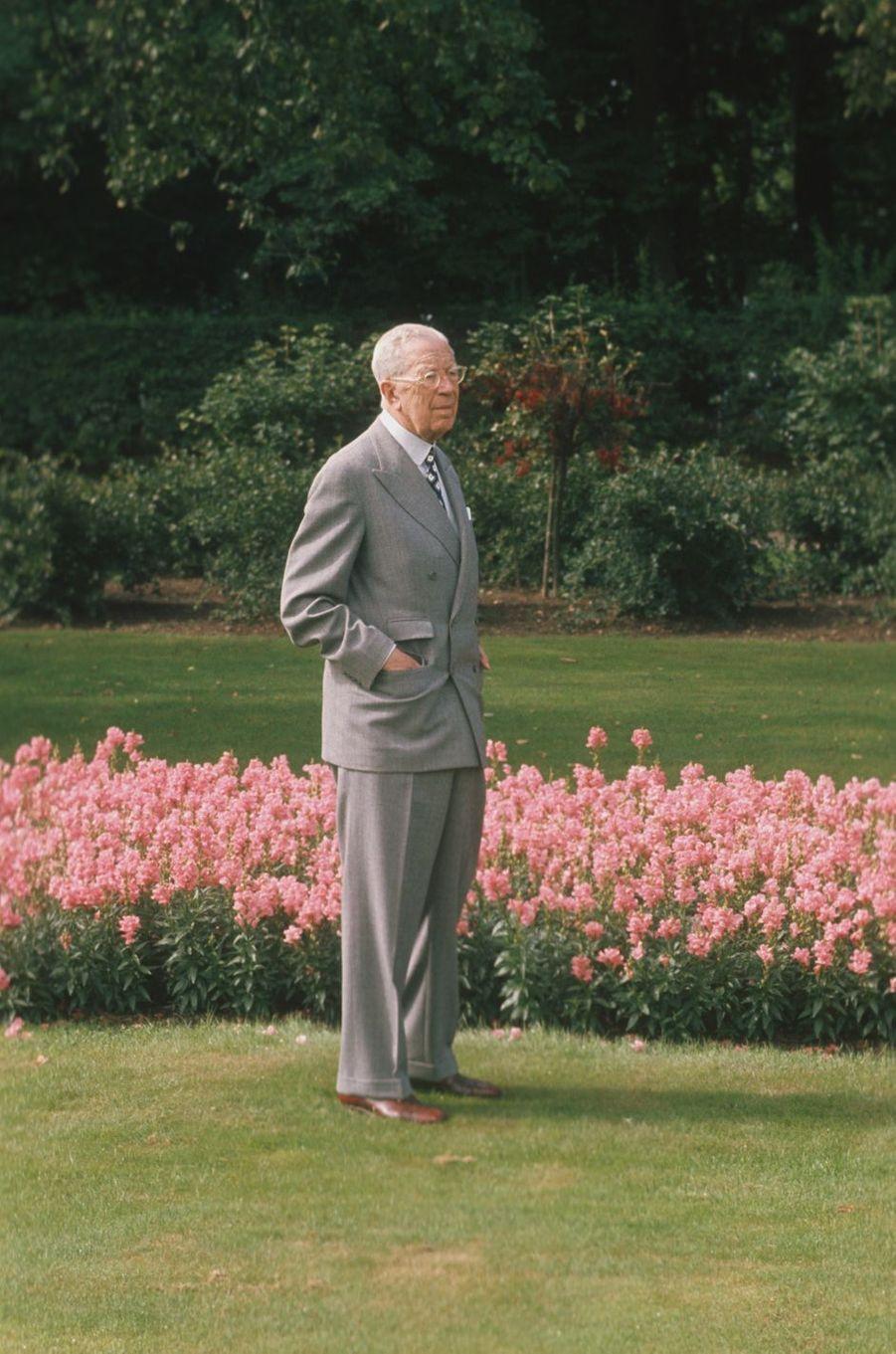 Le roi Gustaf VI Adolf de Suède, le 11 novembre 1972, jour de ses 90 ans