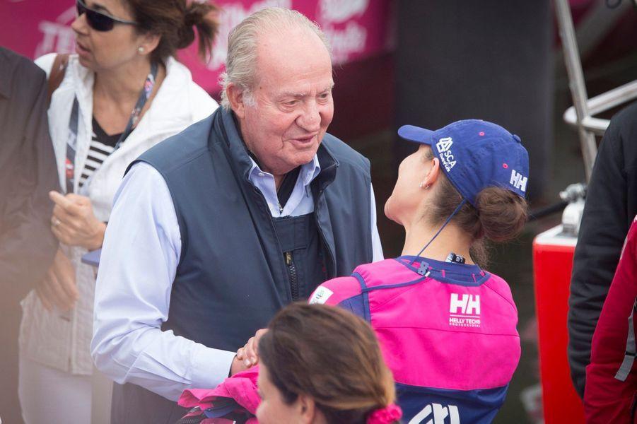 La princesse Victoria de Suède et l'ex-roi Juan Carlos d'Espagne à Göteborg, le 27 juin 2015