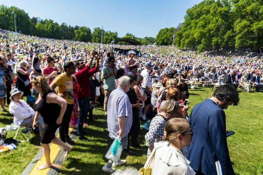 Le public au Parc de Haga à Solna, le 6 juin 2019