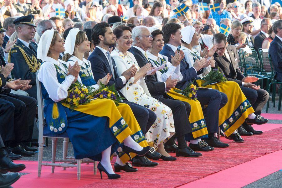 La famille royale de Suède à Stockholm, le 6 juin 2019
