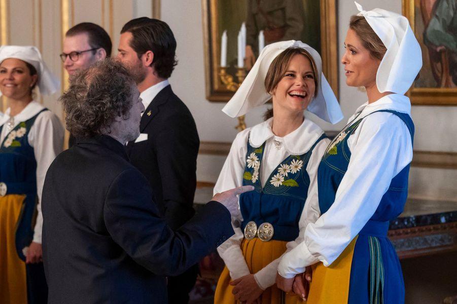 Les princesses Sofia et Madeleine de Suède à Stockholm, le 6 juin 2019