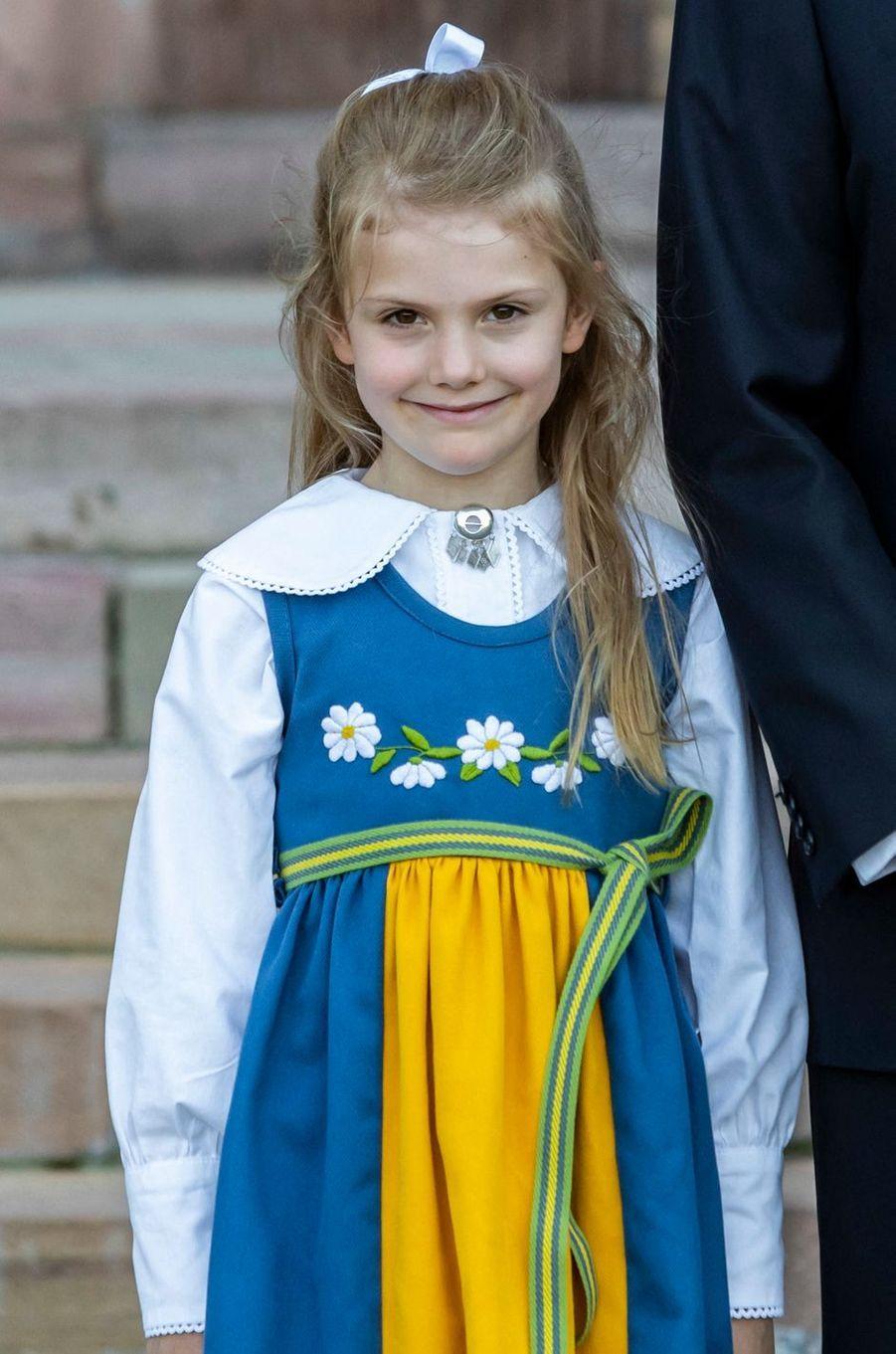 La princesse Estelle de Suède à Stockholm, le 6 juin 2019