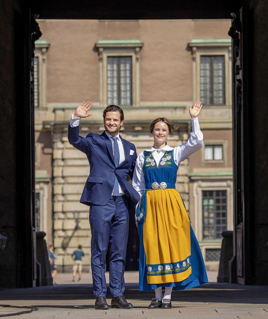 La princesse Sofia et le prince Carl Philip de Suède lors de la Fête nationale à Stockholm, le 6 juin 2019
