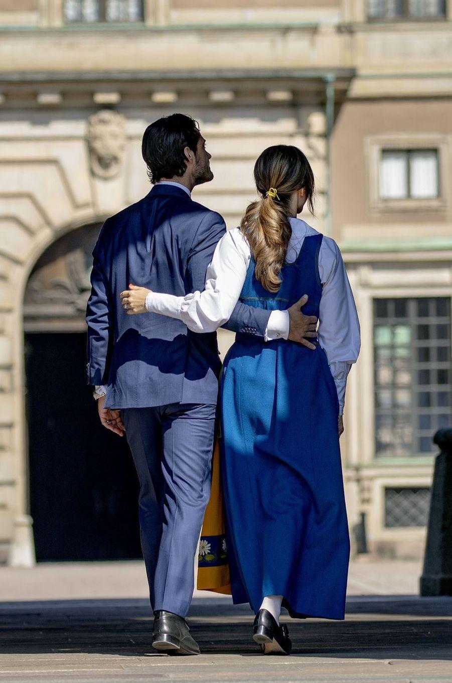 Le prince Carl Philip de Suède et la princesse Sofia à Stockholm, le 6 juin 2019