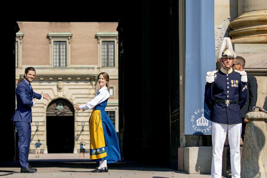 La princesse Sofia et le prince Carl Philip de Suède à Stockholm, le 6 juin 2019