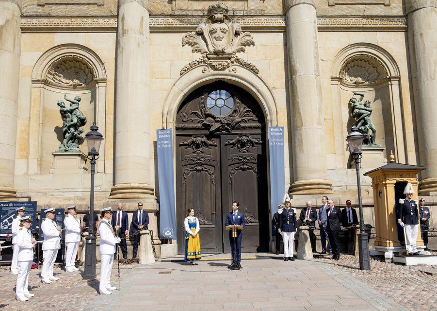 La princesse Sofia et le prince Carl Philip de Suède lancent la Fête nationale à Stockholm, le 6 juin 2019