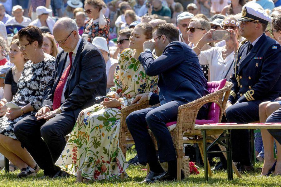 La princesse Victoria de Suède et le prince consort Daniel à Solna, le 6 juin 2019