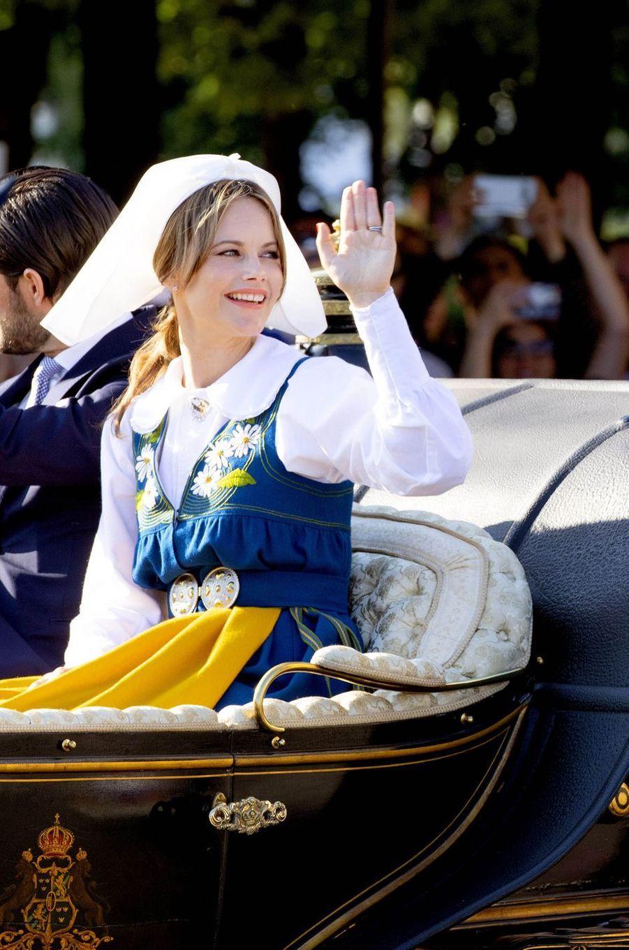 La princesse Sofia de Suède à Stockholm, le 6 juin 2019