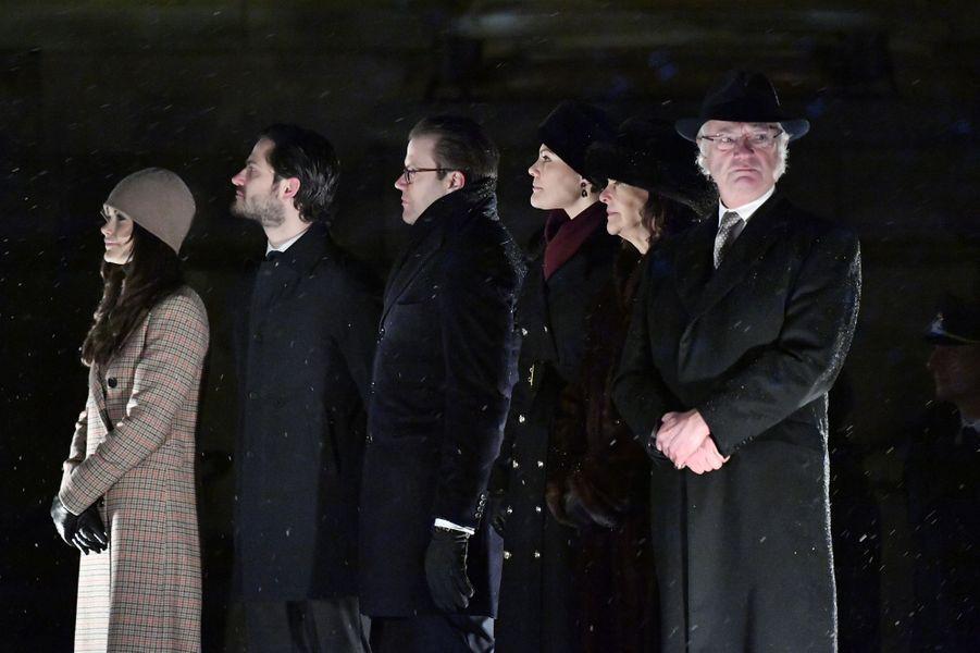 La famille royale de Suède à Stockholm, le 18 décembre 2018